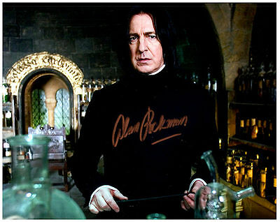 ALAN RICKMAN - HARRY POTTER Authentic Signed Autographed 8X10 Photo w/ COA - 1