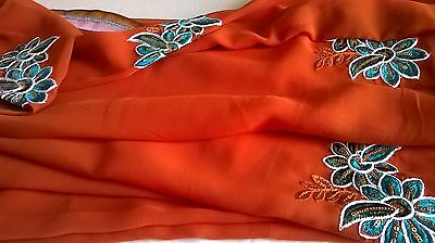 Children's Bollywood designer sarees with matching blouse for 6-11 year old girl