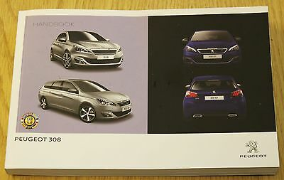 Genuine Peugeot 308 Hatchback Estate Owners Manual Handbook 2013-2016 Book