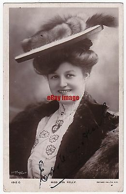 Stage actress Eva Kelly (Mrs G P Huntley). Signed postcard