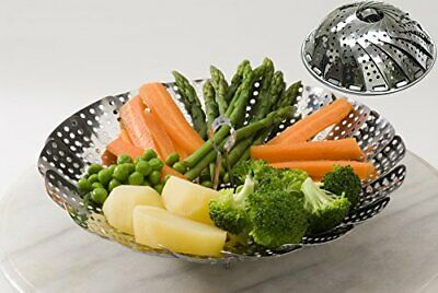 Steamer Basket Stainless Steel Vegetable Folding Collapsible Insert for Various