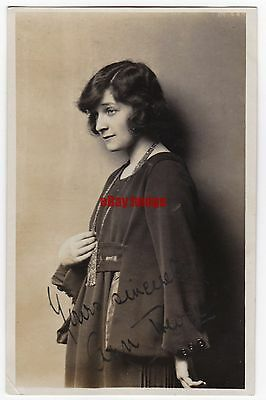 Early film actress Ann Trevor. Signed postcard