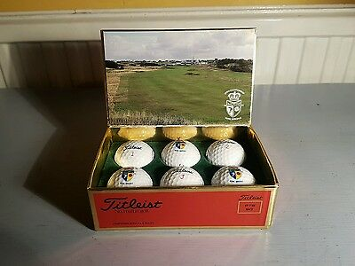 Royal Birkdale 1991 Open Championship Titleist PTS 90 Vintage Golf Balls NEW
