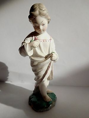 Mid 19Th Century Hochst Damm Figure Of A Girl Holding A Rose