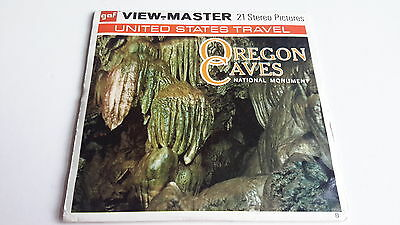 Viewmaster three reel set 3d OREGON CAVES NATIONAL MONUMENT A248 U.S.Travel
