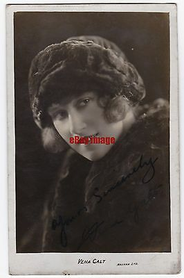 Stage and early film actress Vena Galt. Signed postcard