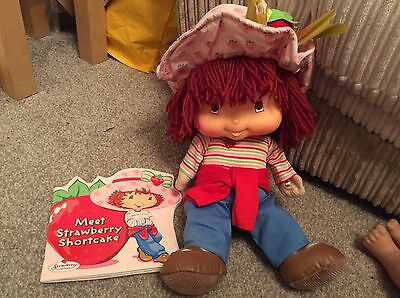 Strawberry Short Cake Soft Bodied 18 Inch Doll Plus Book