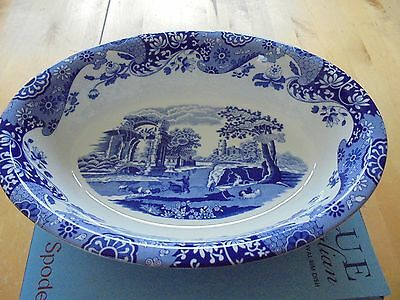 Spode Blue Italian large oval serving bowl BNWT