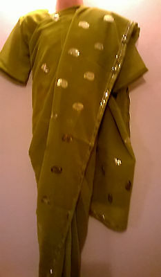 Children's Bollywood designer sarees with matching blouse for 9-11 year's girls
