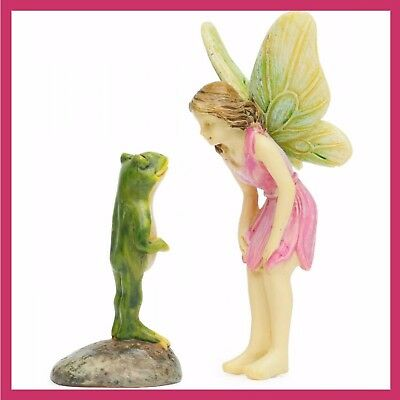 Miniature Dollhouse Fairy Garden Are You Really A Prince Charming Frog Figurine