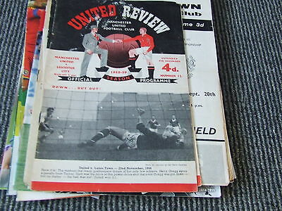 Manchester United V Leicester City 1958-9