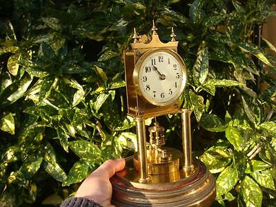 Gustav Becker 400.day mantel  clock/ Anniversary /torsion dome needs restoration