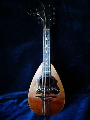 Antique Italian Bowl Back Mandolin - Signed Cav. De Meglio E Figlio - Model 1 A