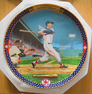 Ted Williams: Last Time at Bat 1995 Bradford Exchange Plate #9184A  COA  NIB