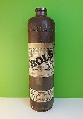 Erven Lucas Bols vintage old liquor bottle earthenware pottery