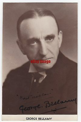 Stage and early film actor George Bellamy. Signed postcard