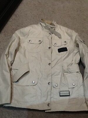 girls cream barbour coat age 10-11