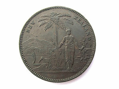 New Zealand Penny Token excellent Condition 19th century