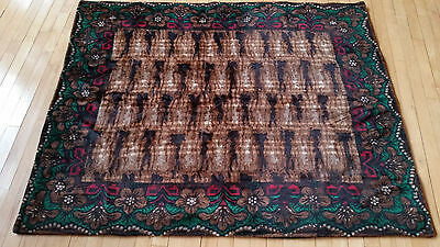 Antique Floral Design Horse Hair Buggy Carriage Blanket