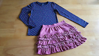 GAP / H&M Girls Clothes 2 Piece Outfit Top & Rara Skirt Age 6-8 Years