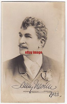 Stage actor and manager Henry Neville. Signed postcard
