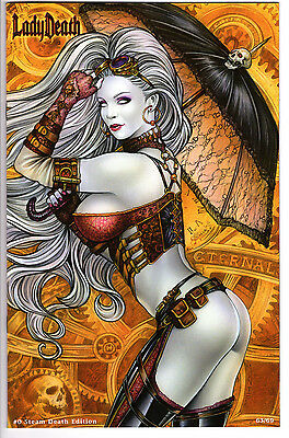Lady Death #0 Steam Death Edition Ltd 69 Monte Moore Variant Unsigned Nm