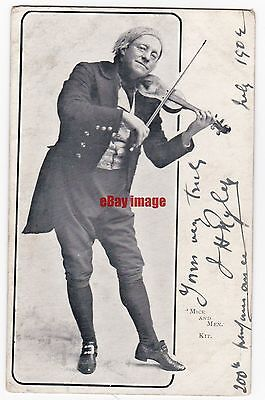 "D'Oyly Carte Opera singer. Stage actor J H Ryley ""Mice and Men"". Signed postcard"