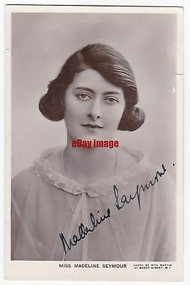 Stage and early film actress Madeline Seymour. Signed postcard