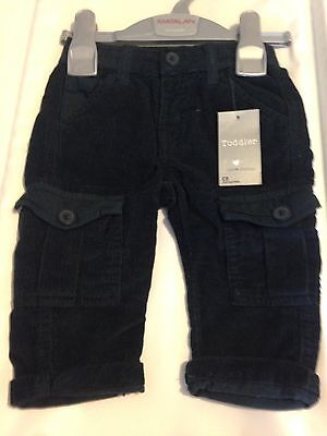 Baby Boy 3-6 Months, Cord Combat Style Trousers NEW