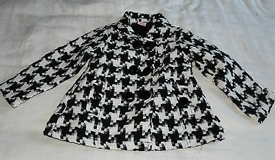 Pumpkin Patch Black and White Coat ~ 4 Years / 106 cm