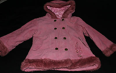 Girls Pink Frostbite Coat Jacket ~ Age 3-4 Years