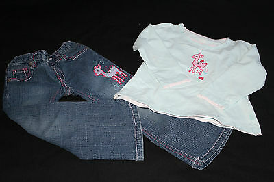 Lovely Pumpkin Patch Jeans and Top Bambi set ~ Age 3 Years