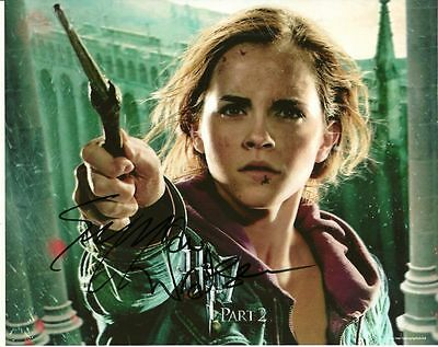 EMMA WATSON    is a  8 BY 10 INCH AUTOGRAPHED PICTURE WITH A COA
