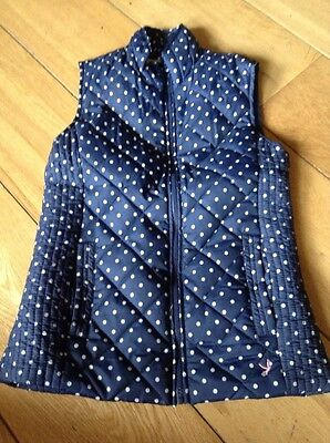 Girls Navy & White Dotty Gilet Padded Young Dimensions (Primark) 11-12years