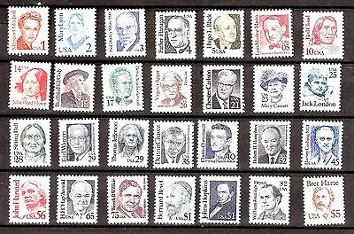 US Stamps 1986 GREAT AMERICANS Sc 2168 - Sc 2196 MNH (28 Stamps )