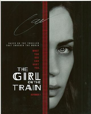 THE GIRL ON THE TRAIN  is a  8 BY 10 INCH AUTOGRAPHED PICTURE WITH A COA