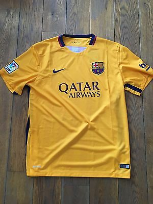 Maillot FC Barcelone Barca Ext Away Jaune Taille L  Neuf