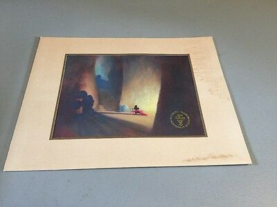 "Walt Disney Commemorative Lithograph Mickey Mouse Fantasia 15""x12"" 1991"