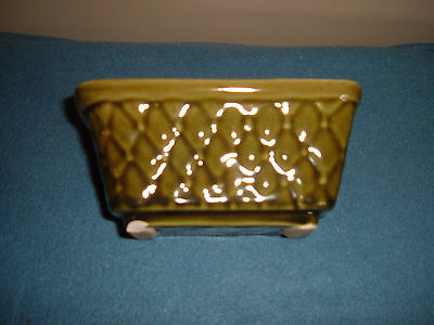 Vintage Brush US Green Pottery Planter 6.5 inches