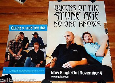 QUEENS OF THE STONE AGE 2pc Promo Poster Lot 2000 Self Titled + No One Knows