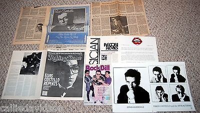ELVIS COSTELLO 1981 Almost Blue 1982 Imperial Bedroom 9pc Photo Press Kit Lot