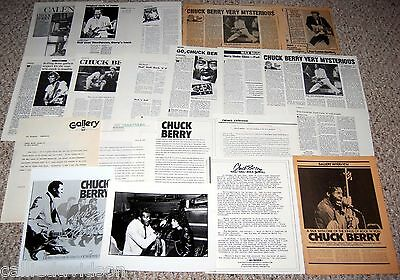 CHUCK BERRY 1979-1987 Mr. Rock N' Roll 20pc Photo Press Kit Lot