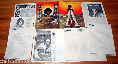JERMAINE JACKSON 1976 My Name Is Jermaine 10pc Press Release Folder Lot