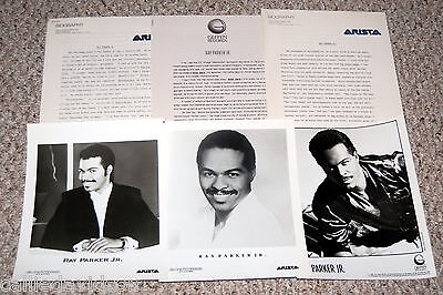 RAY PARKER JR. 1987 After Dark 6pc Photo Press Kit Lot