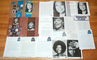 ROBERTA FLACK 1984-1993 Set the Night to Music Oasis 18pc Photo Press Kit Lot