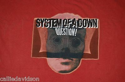 SYSTEM OF A DOWN Question 2005 Tour Concert T-Shirt Chroma-Zone Pigment XL SOAD