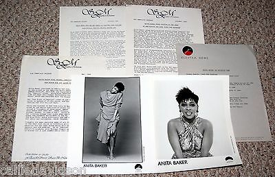 ANITA BAKER 1986 Rapture 6pc Photo Press Kit Lot R&B Soul