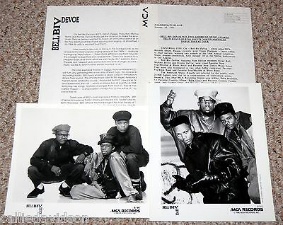 BELL BIV DEVOE 1990 Poison 4pc Photo Press Kit Lot New Edition Hip Hop R&B
