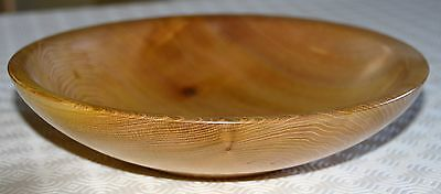 Beautiful hand-turned wooden bowl in figured elm - ideal gift