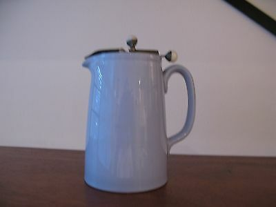 Spode  English  Lavender  Jug  With Pewter Lid